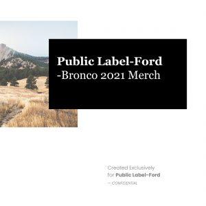 Bronco 2021 merch handout cover