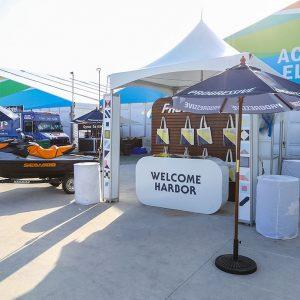 Progressive Welcome Harbor boat booth